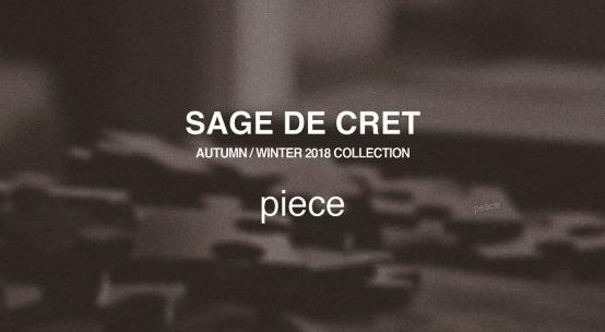 SAGE DE CRET AUTUMN / WINTER 2018 COLLECTION SCHEDULE