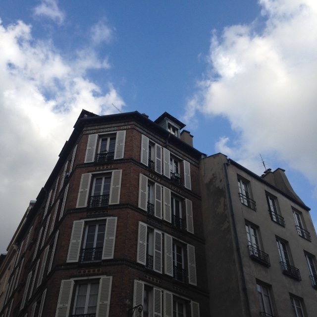 Le ciel blue et Le mur végétal
